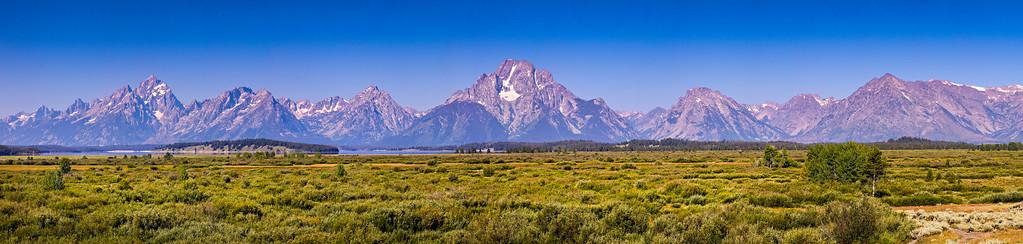 The mountain range of Grand Teton National Park in Wyoming.  Photo by Kyle Spradley | www.kspradleyphoto.com