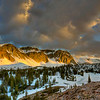 """Sunrise in late spring in the Snowy Range Mountains outside of Laramie, Wyoming. The high-altitude landscape below Medicine Bow Peak is viewed from a hill above Mirror Lake, just off of the Snowy Range Scenic Byway. <br /> <br /> Photo by Kyle Spradley   © Kyle Spradley Photography    <a href=""""http://www.kspradleyphoto.com"""">http://www.kspradleyphoto.com</a>"""
