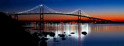 Newport Bridge at Dusk