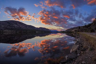 Vaseux Lake Supersunset Panoramic