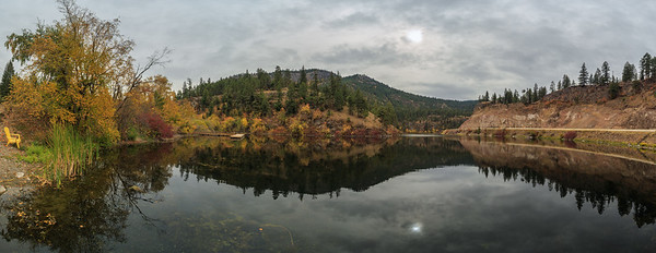 Yellow Lake Autumn Panoramic Southward