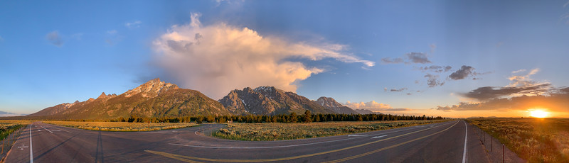 First Light in Grand Teton National Park