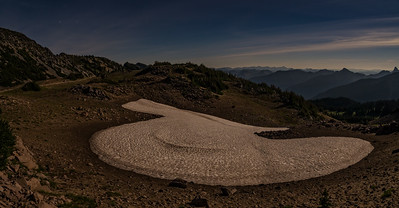 Moonlit trail at Mount Rainier