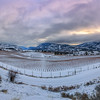 Blue Mountain Winter Dusk Panoramic