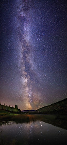 Green Lake Milky Way 90 Degree Panoramic I