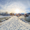 Sicamous and Tug Winter Panoramic