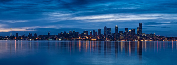 Sunrise of the Seattle Skyline from West Seattle