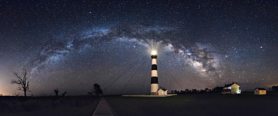 Intersection of Bodie Island and Milky Way
