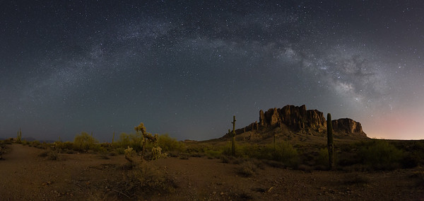 Desert Nighttime Panorama