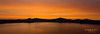 Crater Lake sunset panorama.