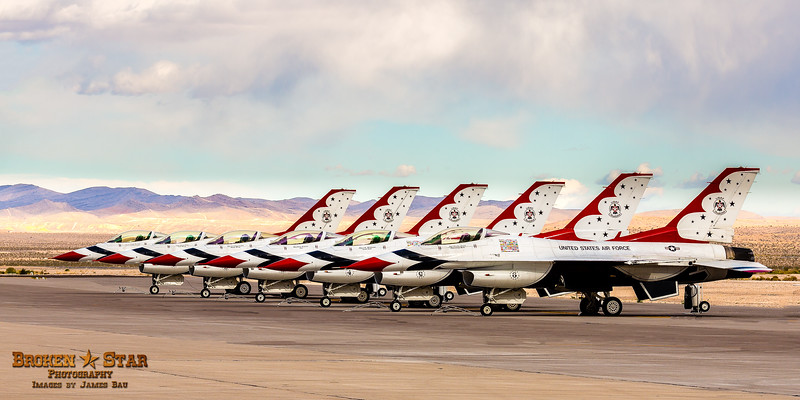 USAF Thunderbirds on display @ Nellis AFB