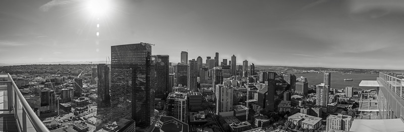 Sunny Seattle in Black and White