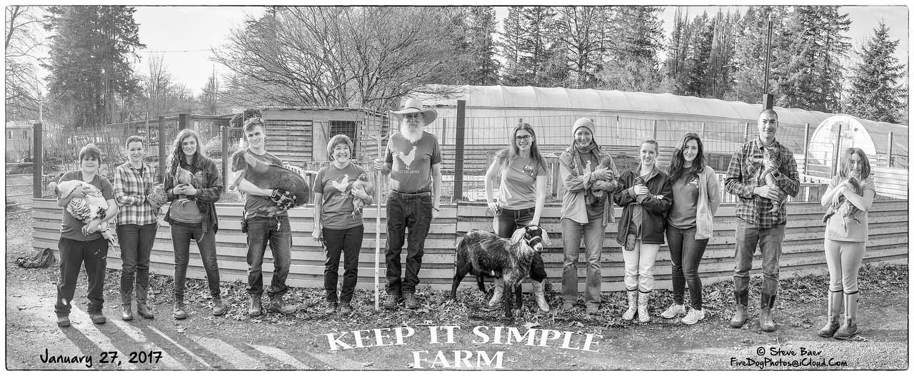 KEEP IT SIMPLE FARM IN B&W