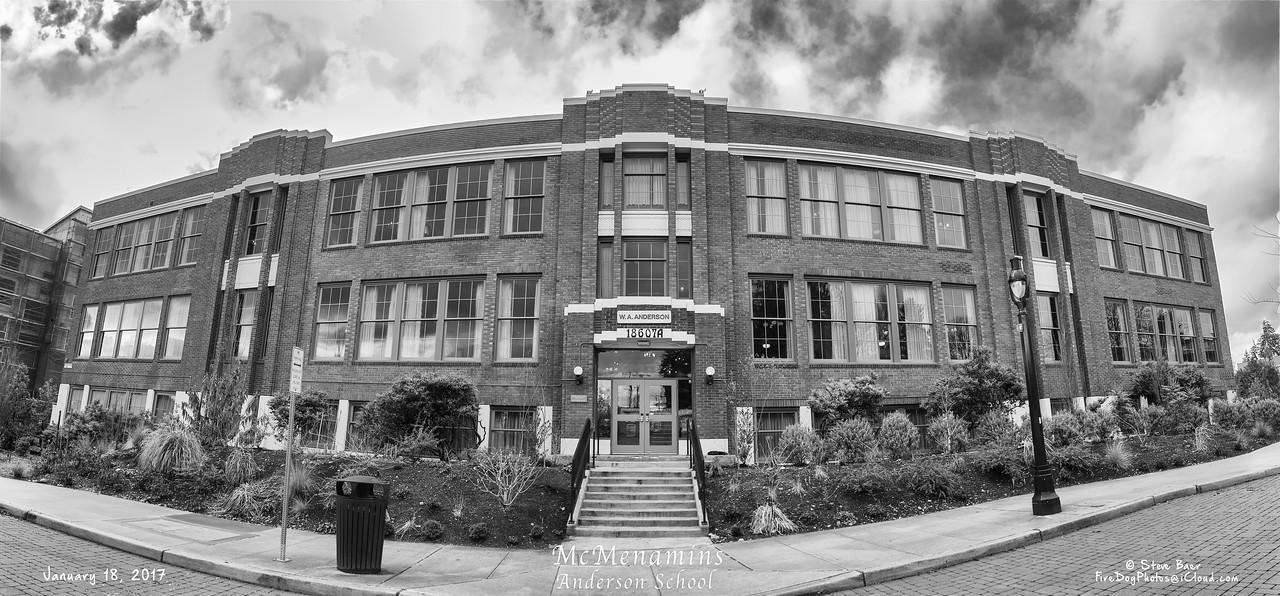 McMenamins Anderson School in Black and White