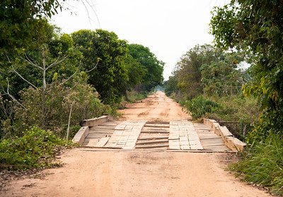 The scenic Trans Pantanal Highway.