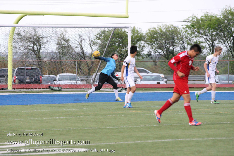 Pflugerville Panthers Boys Varsity Soccer vs Del Valle_0001
