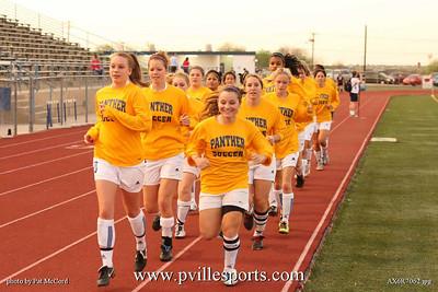 Varsity Girls Soccer and Senior Night