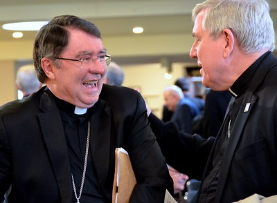 A pair of archbishops: Archbishop Pierre and Archbishop Listecki