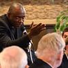 Fr. Michael Udoekpo, associate professor of Scripture, asks a question
