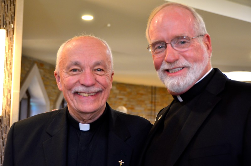 Fr. Tom Knoebel (SHSST president-rector) and Fr. Ed Kilianski (provincial superior of the US Province of the Priests of the Sacred Heart)