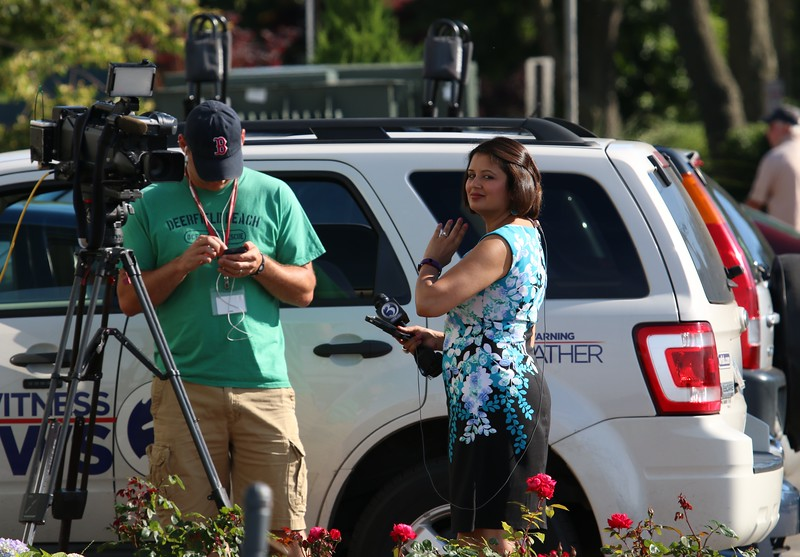 WFSB Channel 3 reporter Sujata Jain at West Wharf Madison, CT