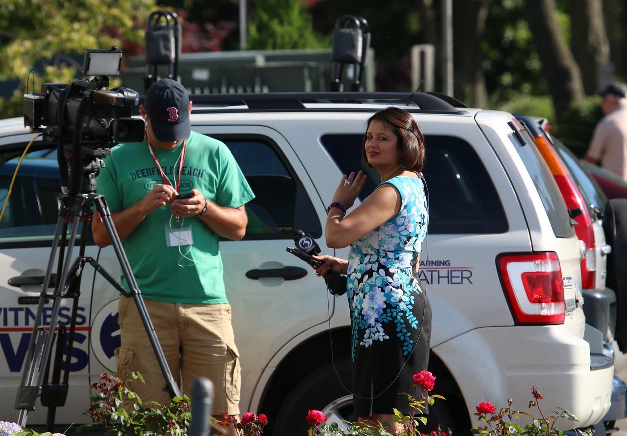WFSB Channel 3 reporter Sujata Jain at West Wharf Madison, CT