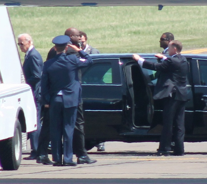 Vice President Joe Biden at Tweed New Haven Airport