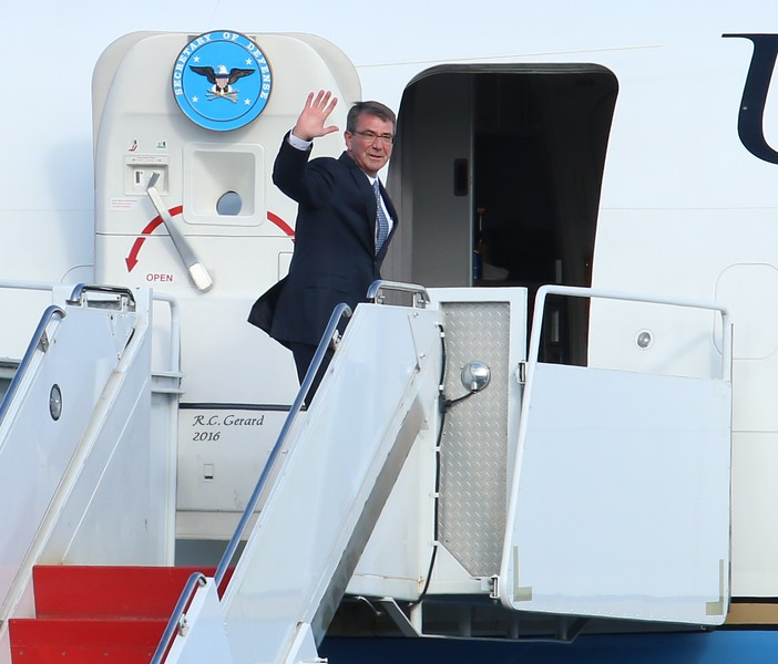 Secretary of Defense Ashton Carter at Tweed-new Haven Airport