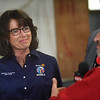 "District Governor of Rotary 7910 Karin Gaffney attends the ""Meet the Plane"" media event held by  Project Soar at the Fitchburg Municipal Airport on Saturday.  SENTINEL & ENTERPRISE JEFF PORTER"