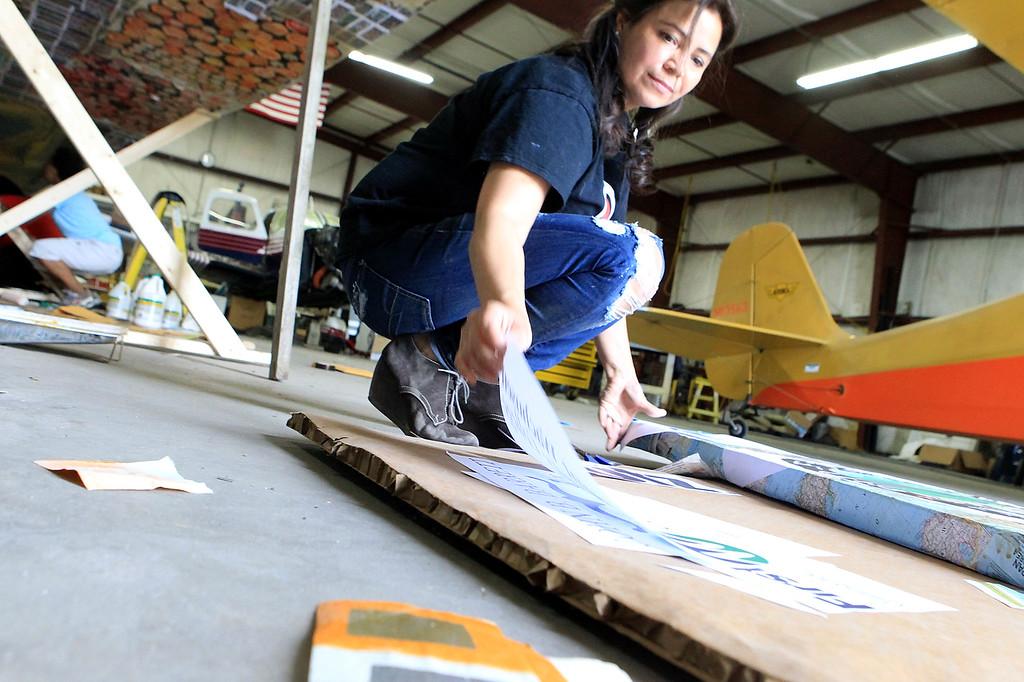 . Coraly Rivera Paper plane SENTINEL&ENTERPRISE/Scott LaPrade