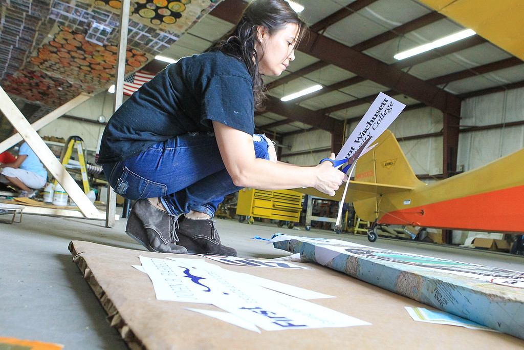. Coraly Riveria Paper plane SENTINEL&ENTERPRISE/Scott LaPrade