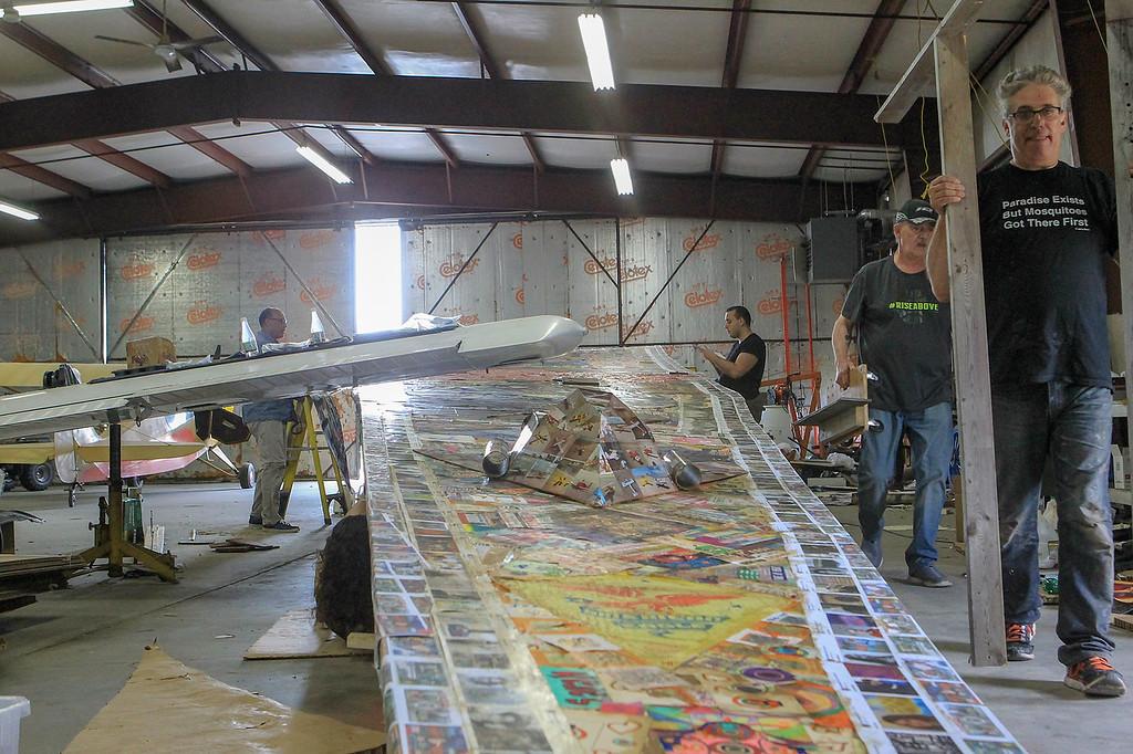 . Paper plane SENTINEL&ENTERPRISE/Scott LaPrade