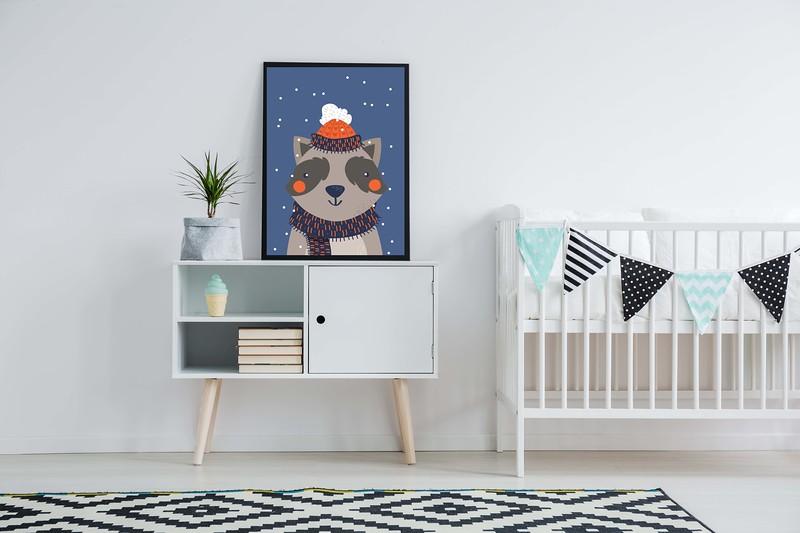 Cute minimalism in nursery