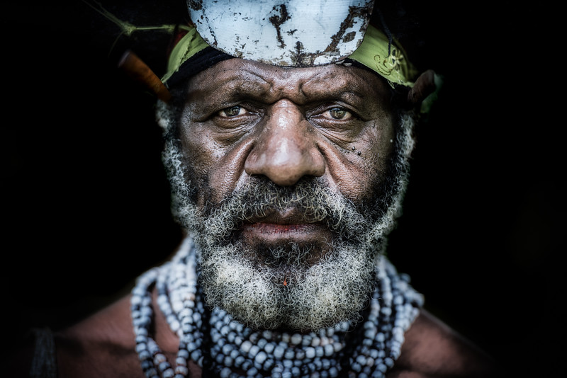 The face of a papuan