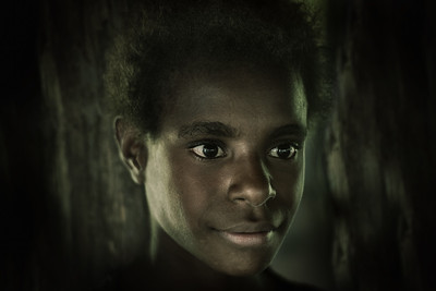 Young New Guinean girl