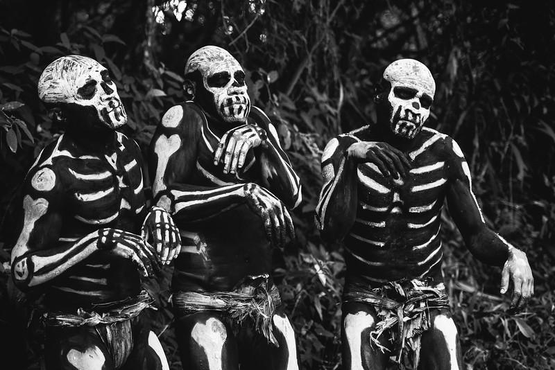 Skeleton trio