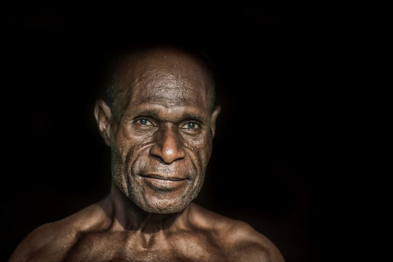 A sculpted faceb