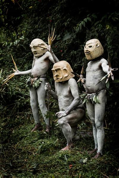 Tribal mudmen