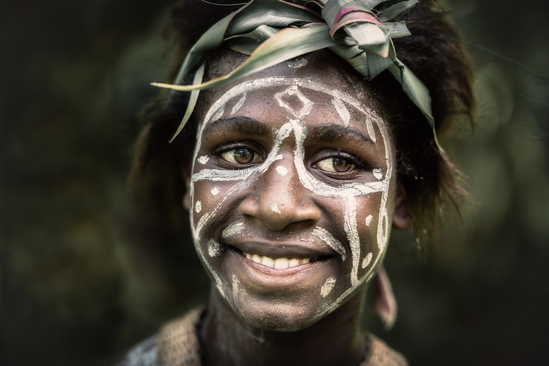 Beautiful smiling Papuan girl