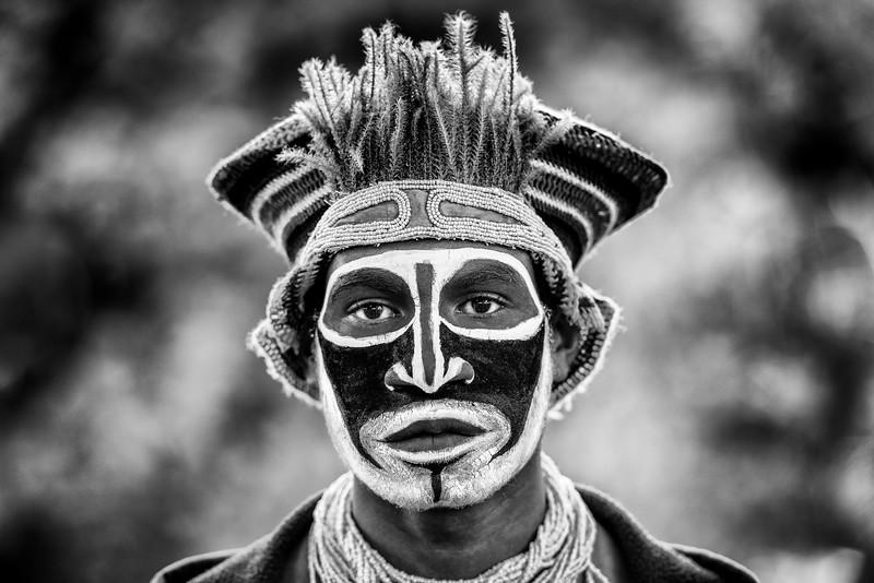 Kunai cultural man in mono