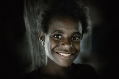 Young smiling Papuan girl