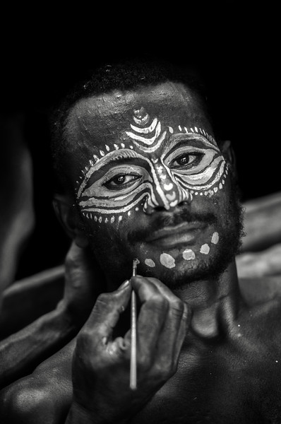 Papuan painted