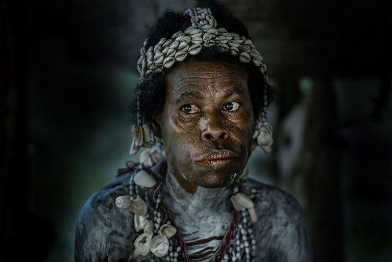 Portrait of a Papuan woman
