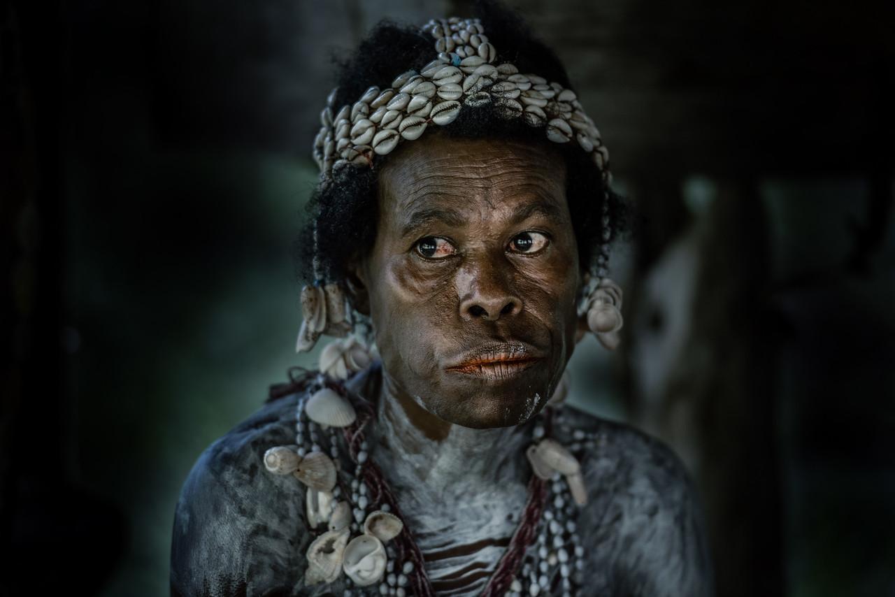 Portrait of a Papuan woman
