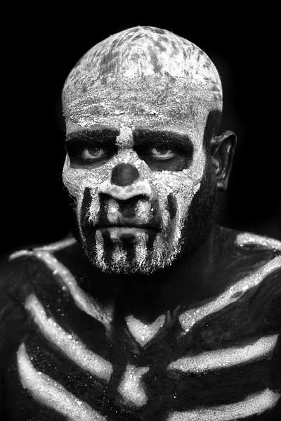 Portrait of a skeleton man