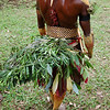 Grass skirt on one of the Huli Wigmen that performed the welcoming Sing-Sing dance. Tari Highlands, Papua New Guinea