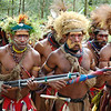Warriors at Compensation Ceremony Preparation, Southern Highlands, Papua New Guinea