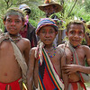 Kids at Compensation Ceremony Preparation, Southern Highlands, Papua New Guinea