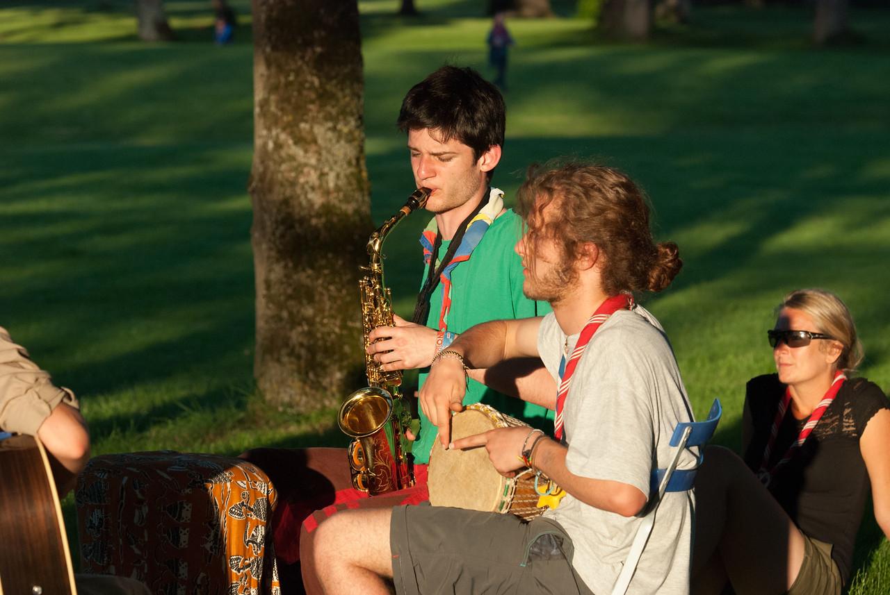 Musiciens au soleil