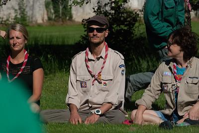 Méditation en plein soleil